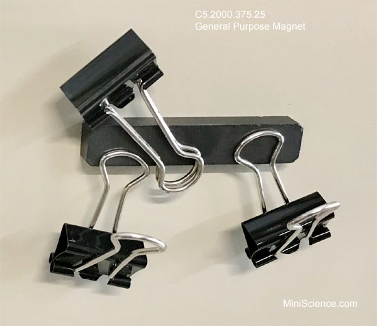 Binder clips on magnet block