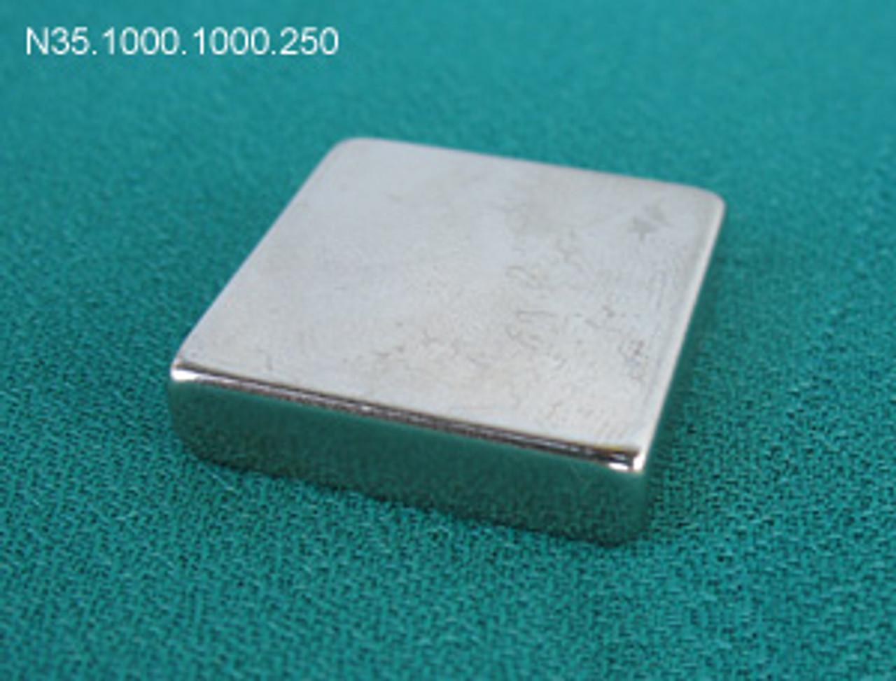 Neodymium Magnet, Square, 1 x 1 inch