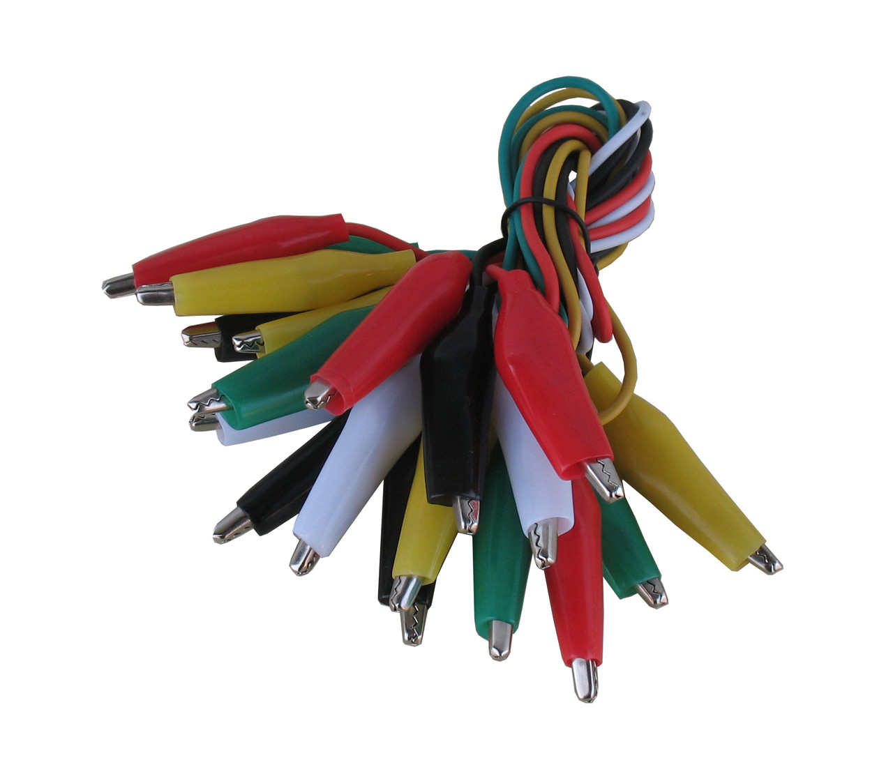 Jumper wires, Test lead set with Alligator Clips, Set of 10 wires, 5 Colors