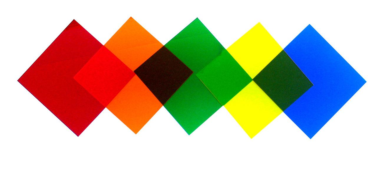 "Color Filter, Set of 5 Colors, 2"" x 2"""