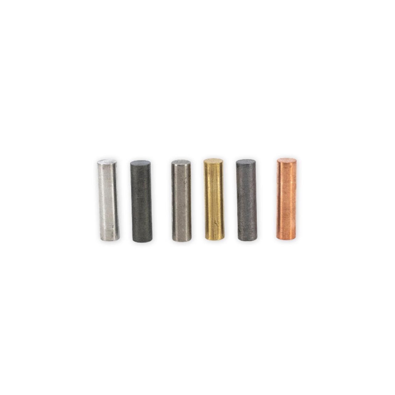 Metal Cylinder Set (6 Pieces) 10 x 40 mm