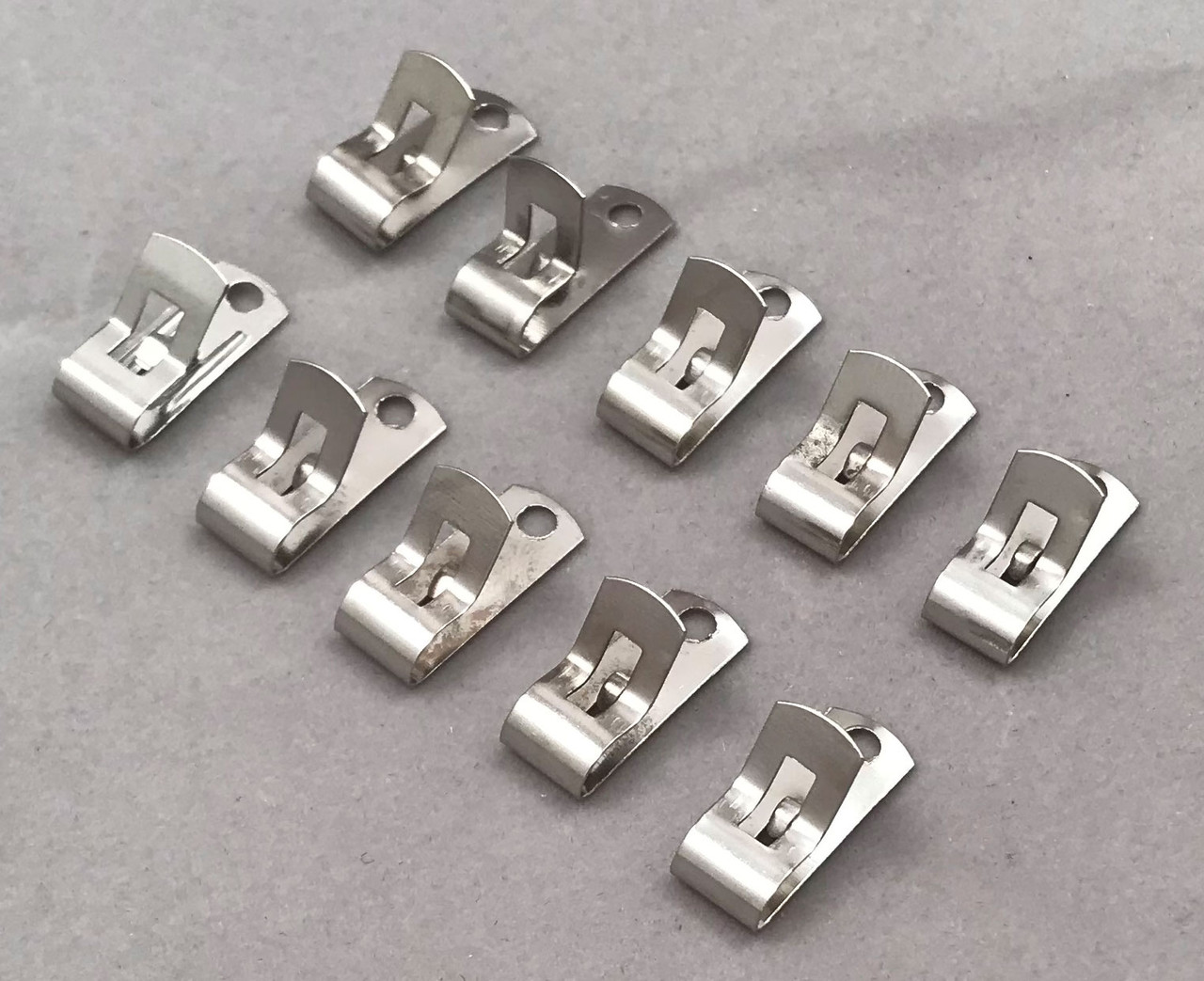 Fahnestock Clips, Spring clips, Plated Steel