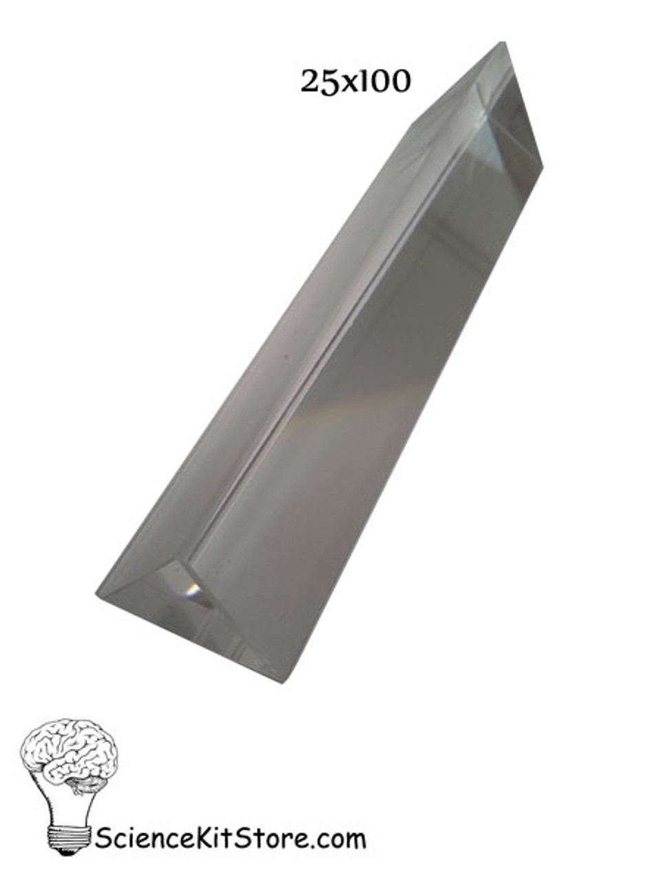 Glass Prism, Equilateral (Length 100 mm, Face 25mm)