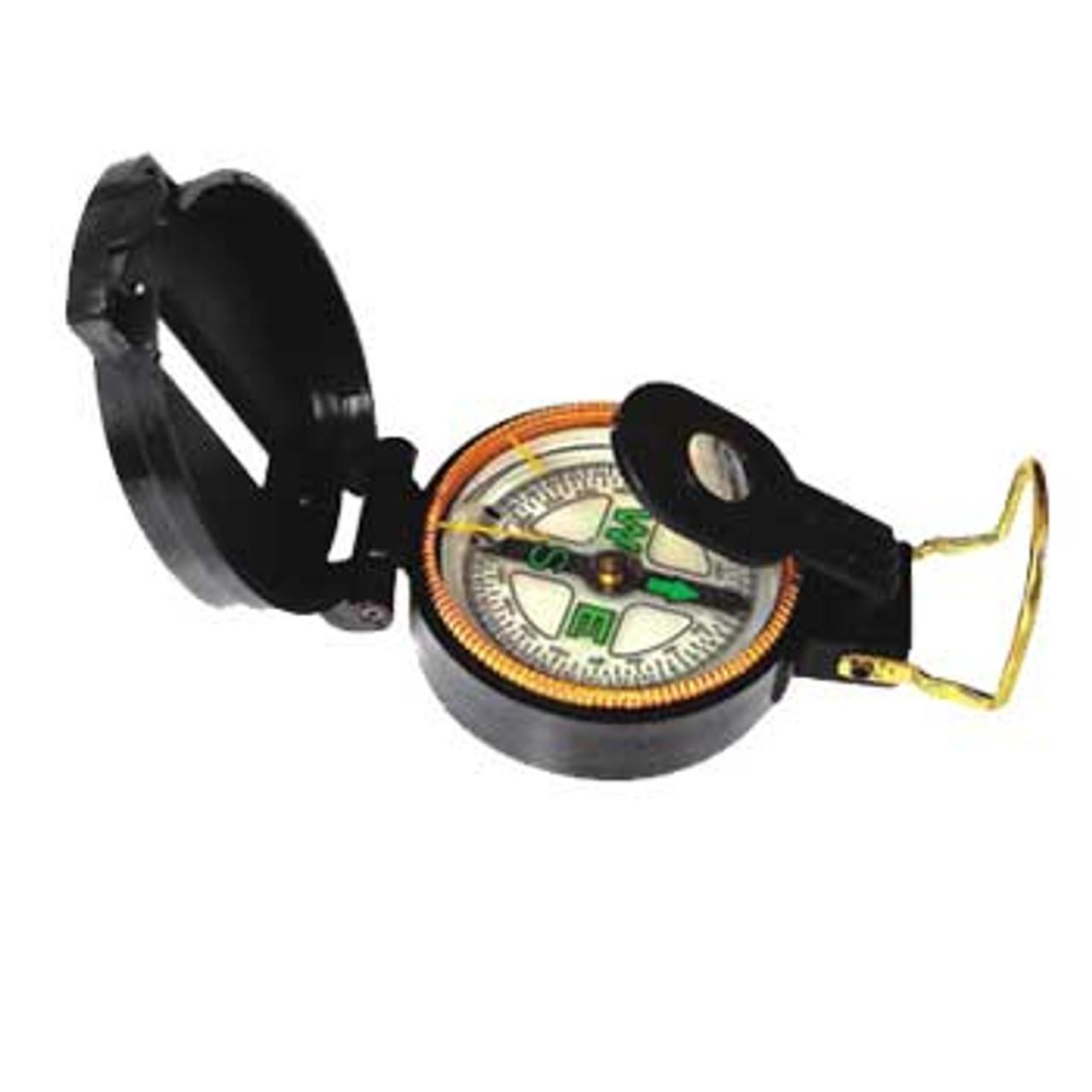Directional Lensatic Compass, Plastic Case