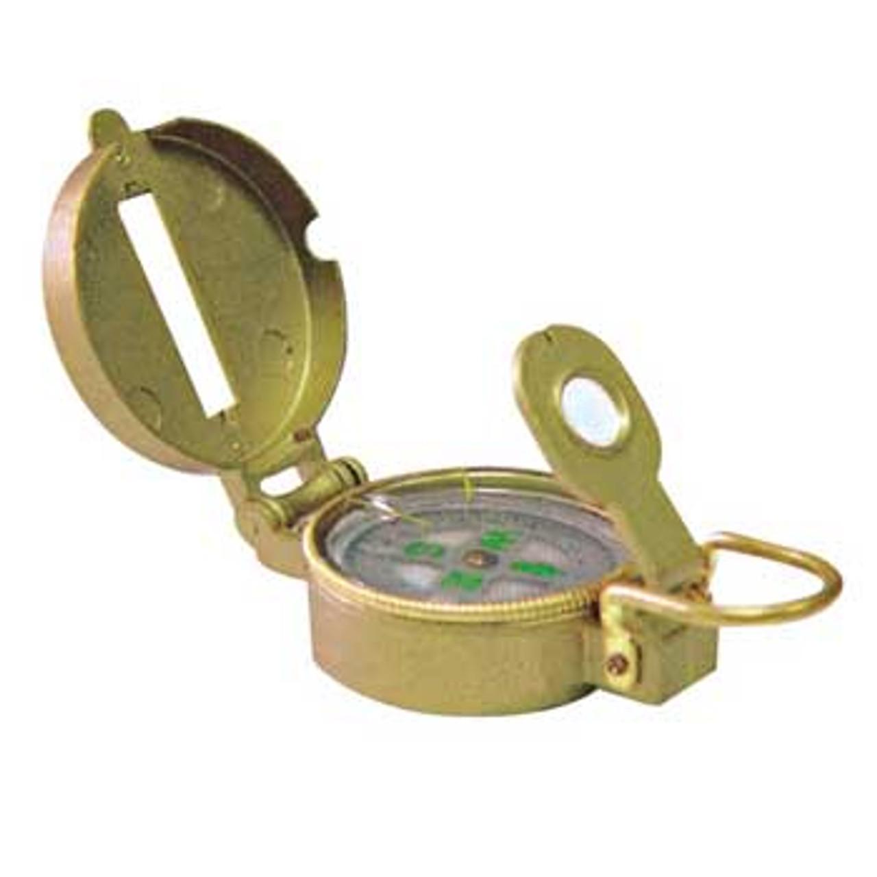 Engineering Lensatic Compass, Metal Case