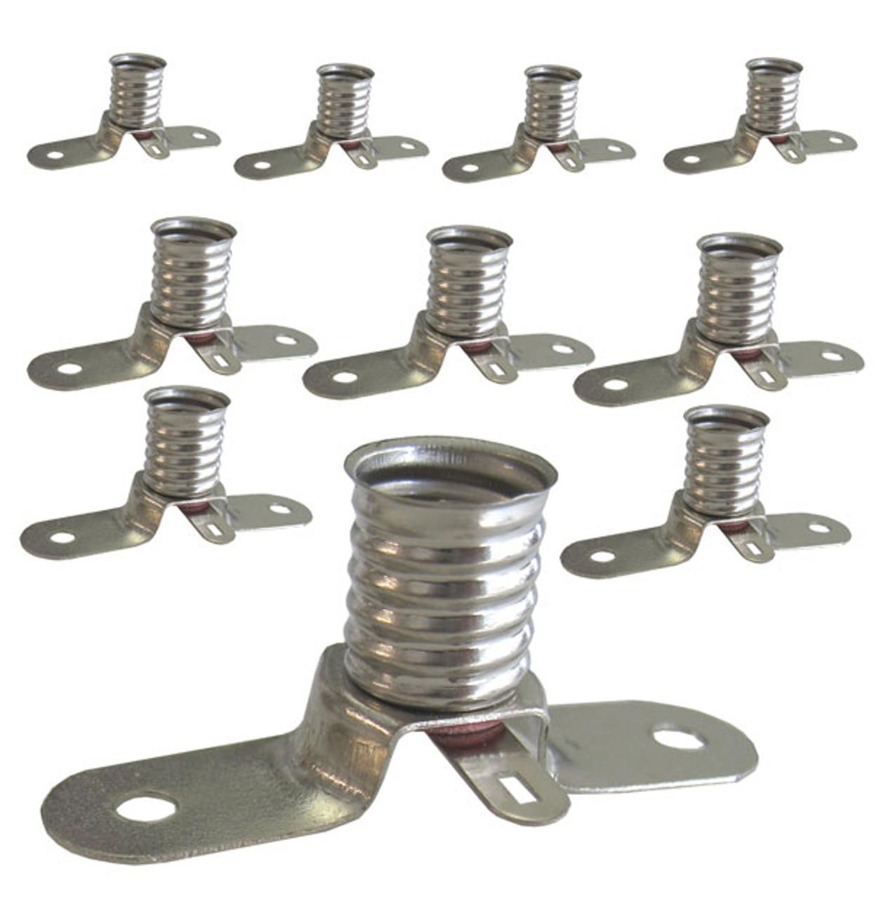 Set of 10 lamp holders