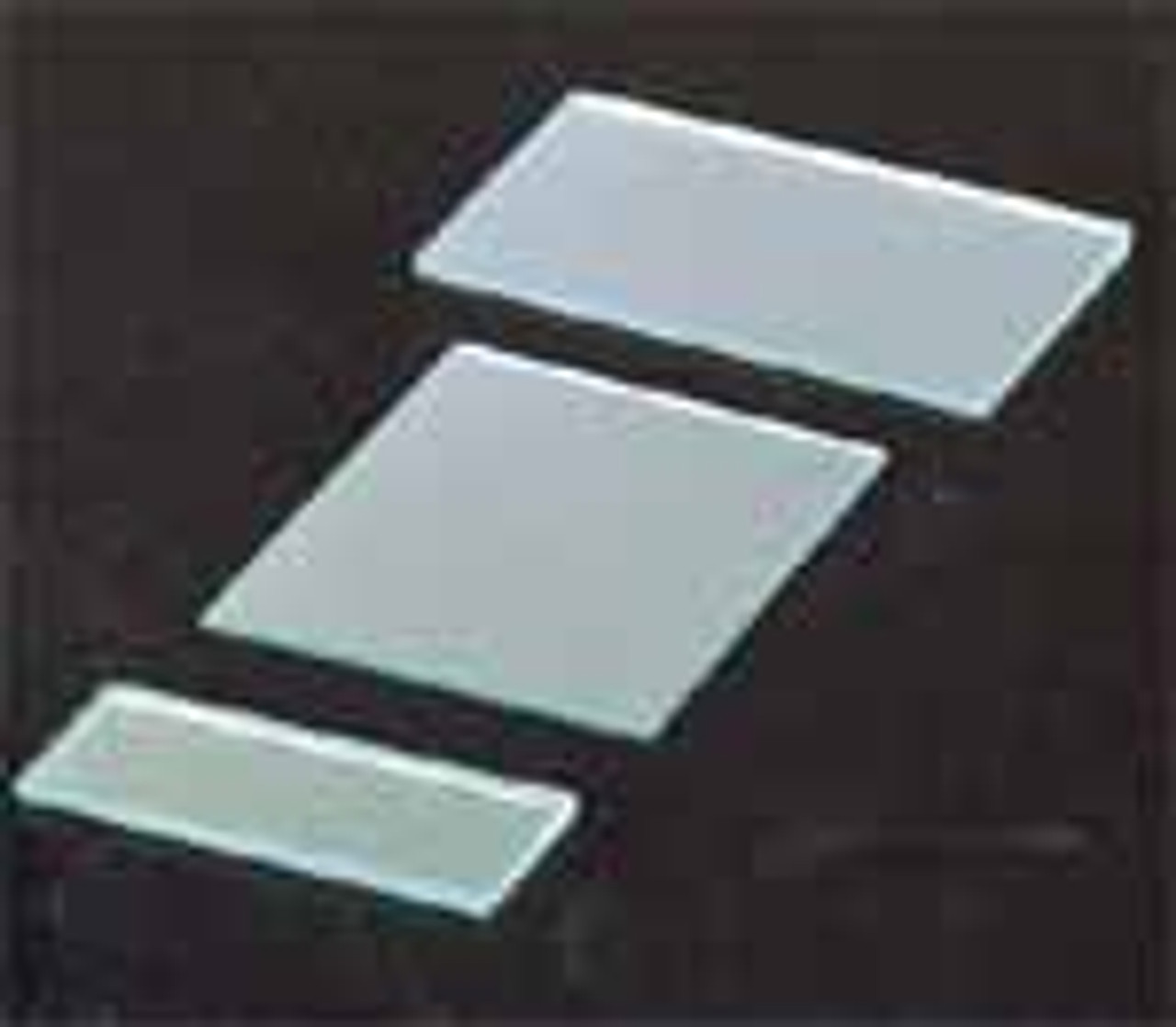 Mirror, Flat Strips, Silvered Glass, Unmounted