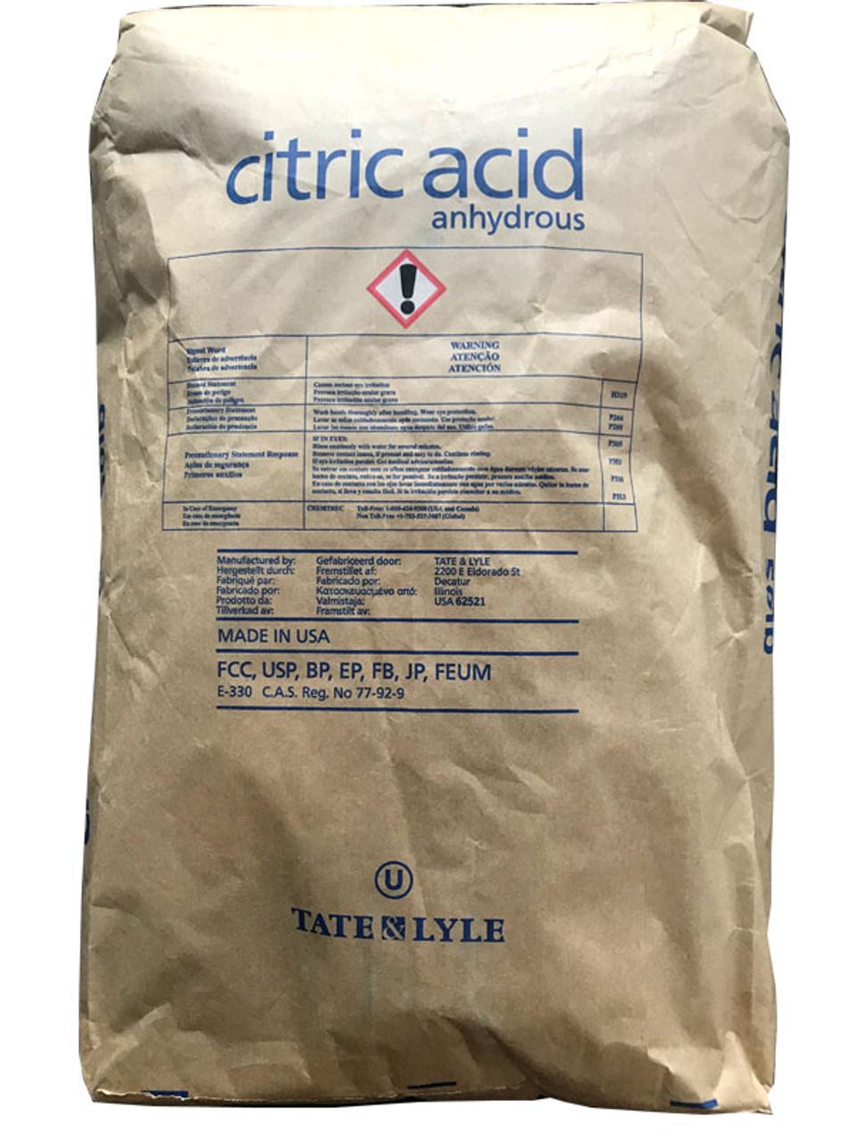 Citric Acid 99.5%, USP, FCC, Fine Crystals
