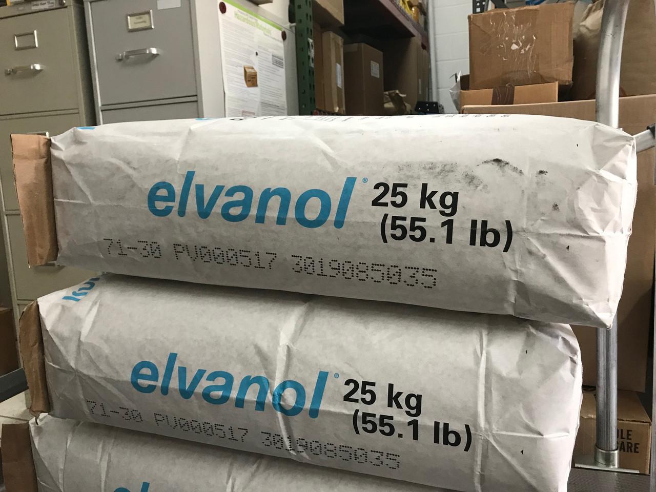 Elvanol 71-30 in 50-lb bags.