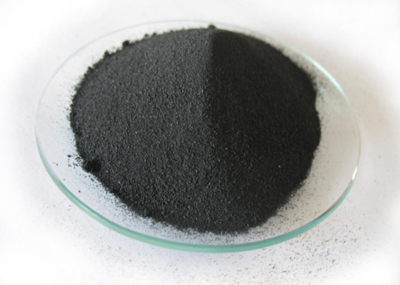 Small sample of S145C black iron powder.