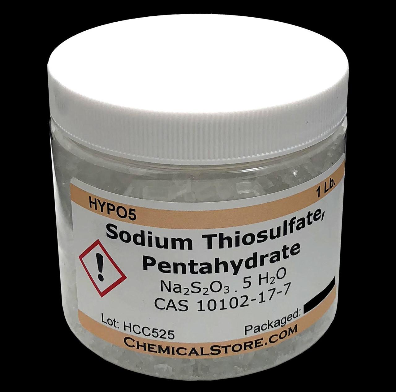 Sodium Thiosulfate, Pentahydrate