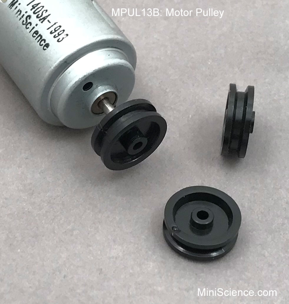 Motor Pulley MPUL13B for small motors with 2-mm shaft