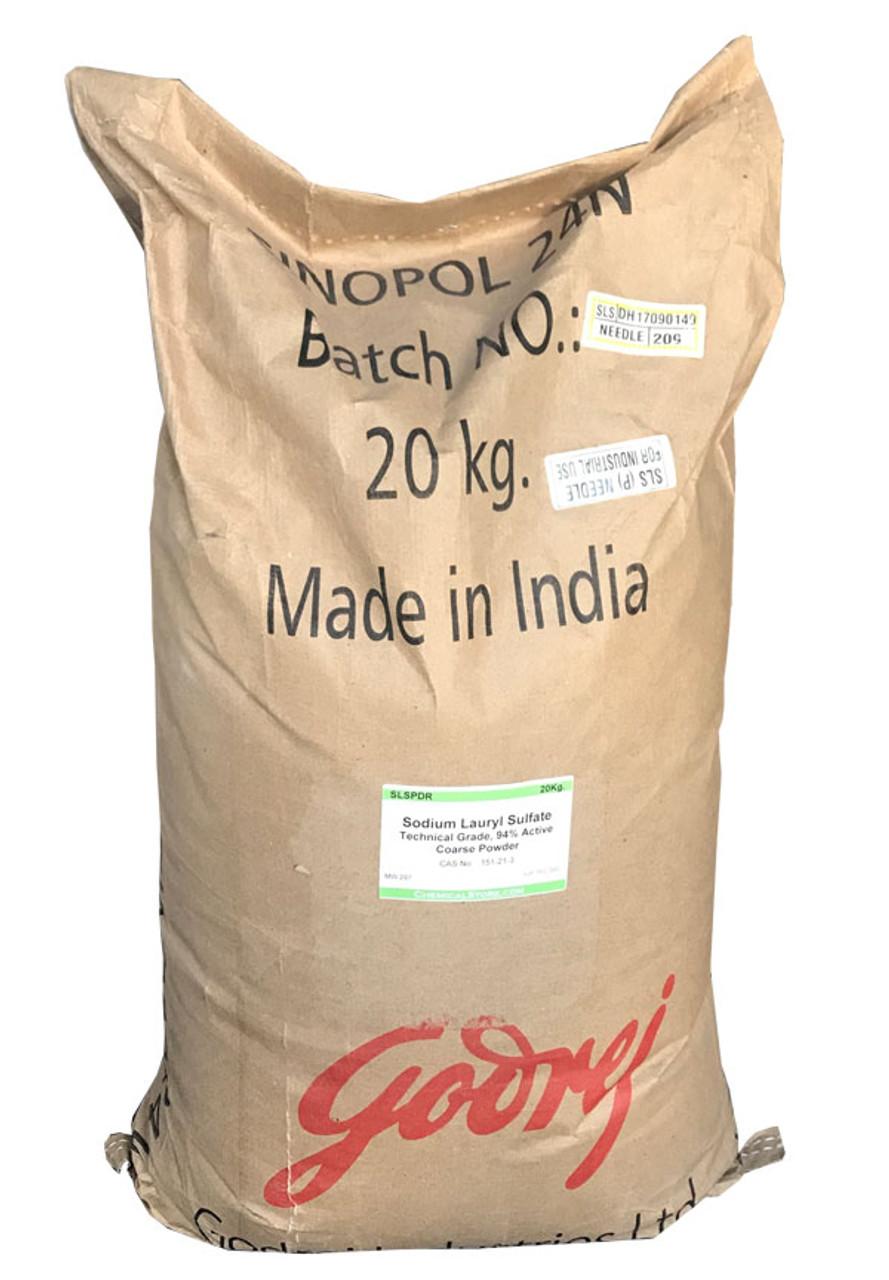 Sodium Lauryl Sulfate, Coarse Powder or Fine Granular