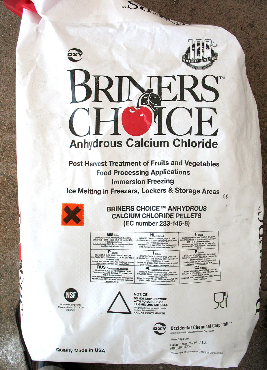 Calcium Chloride, Anhydrous, Food grade, 50-Lb Bag, Free Shipping