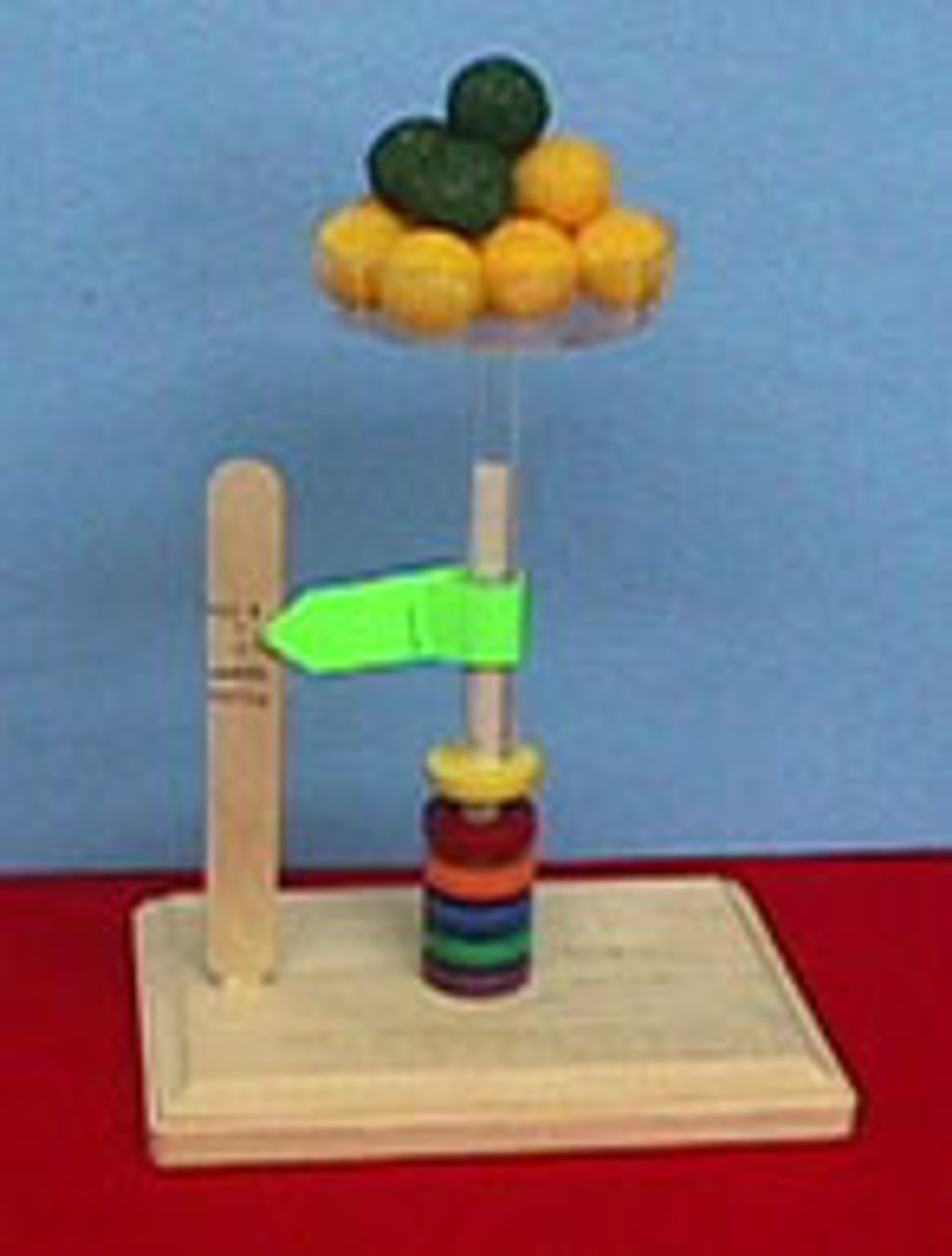 Spring scale idea using floating rings as spring.