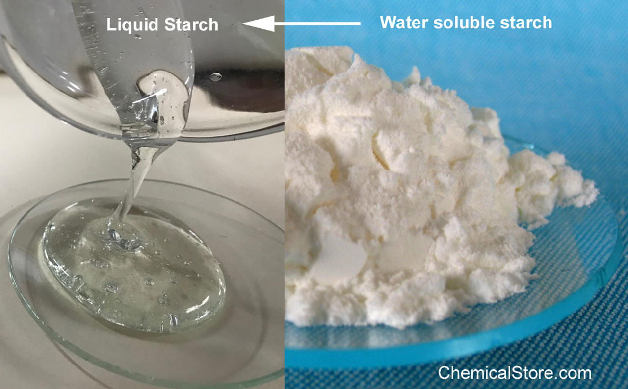 Water soluble starch is a corn starch product modified to become water soluble. It is used in production of liquid starch, glue and laundry starch.
