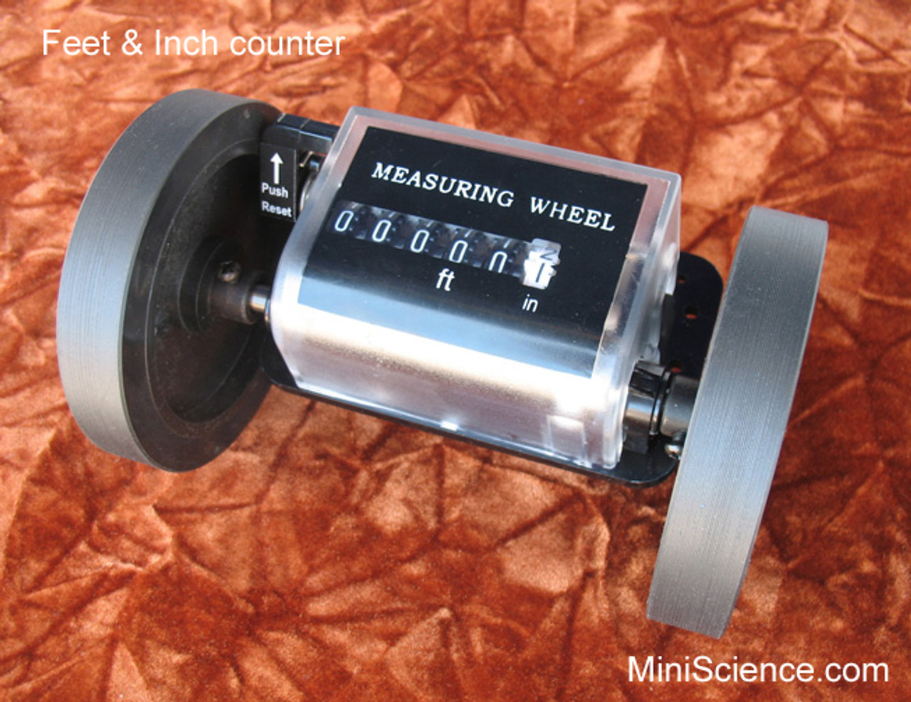 Feet measuring counter with two wheels