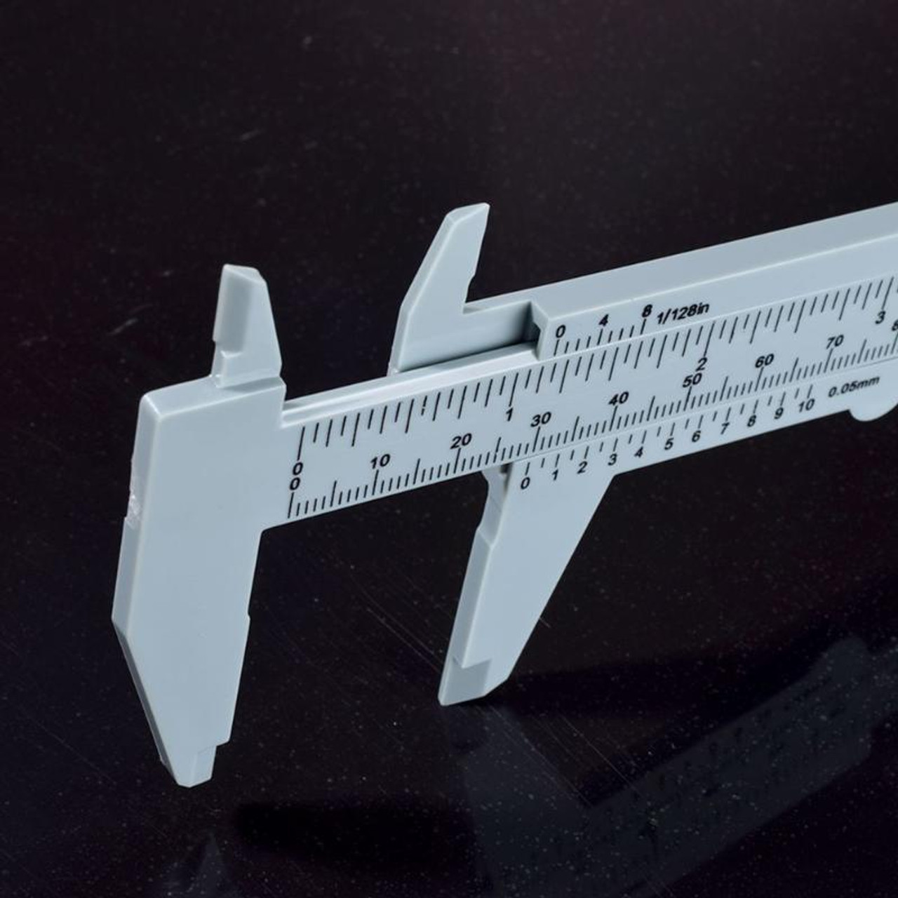 Caliper, Dual Scale, Made of hard plastic
