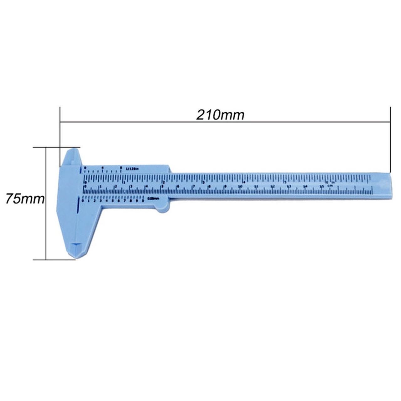 Specifications of the plastic Vernier Caliper