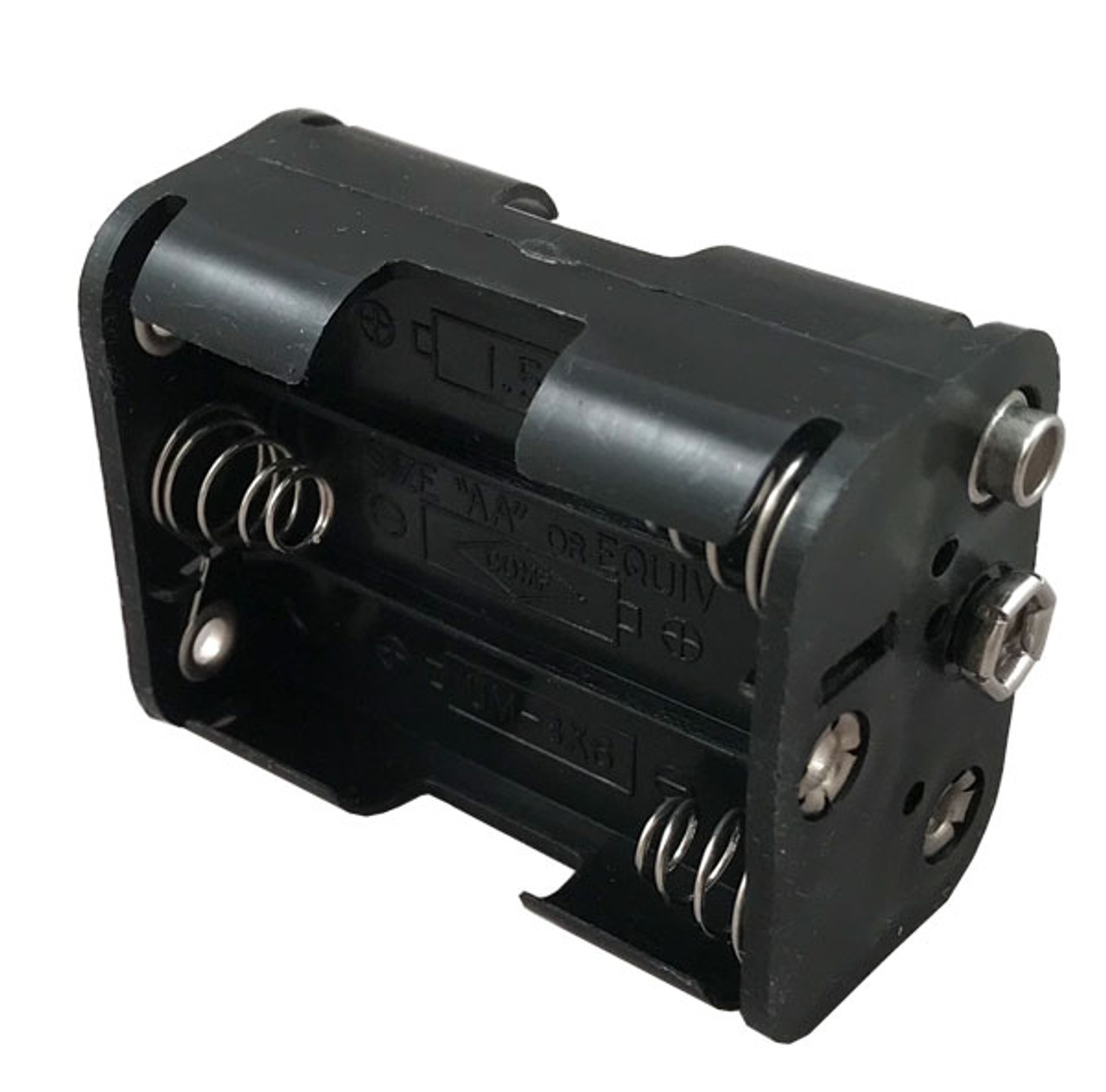 battery box with 9-volt clip connectors