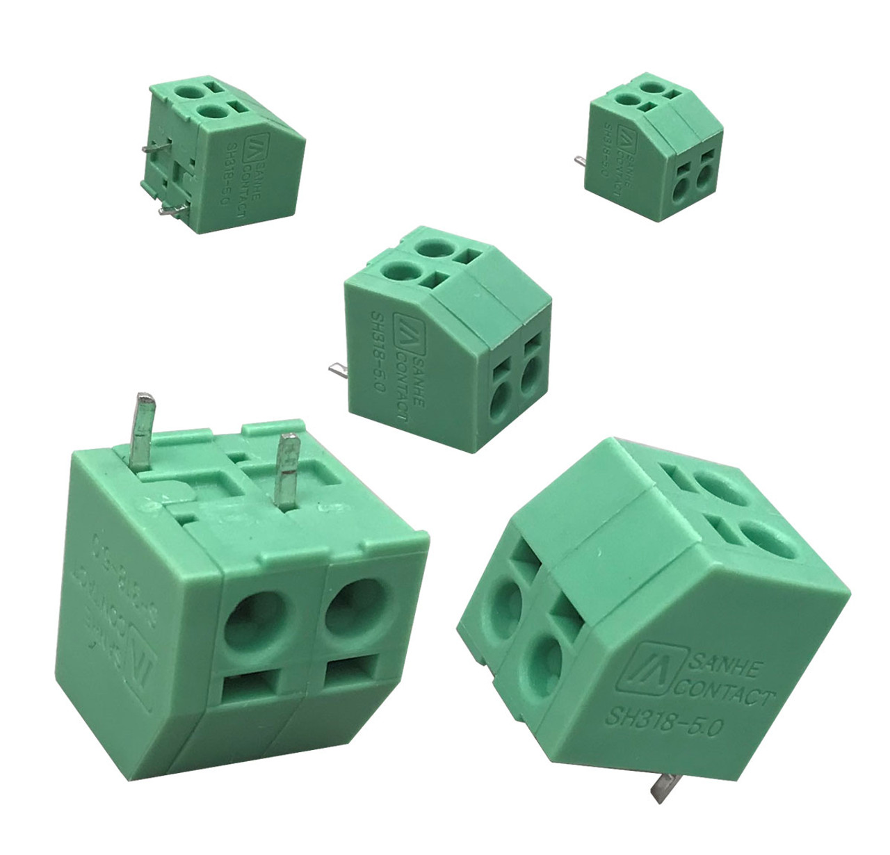 """2 PIN 2.54mm(0.1"""") Pitch PCB Universal Screw Terminal Blocks Board to Wire Connector Straight Pin Terminals"""