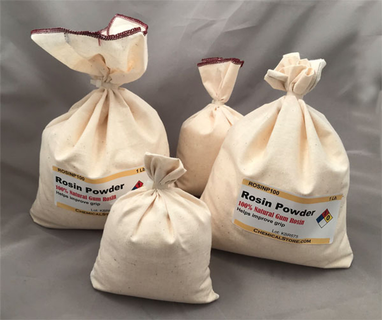 Rosin Powder is also available in cotton bags for special orders.