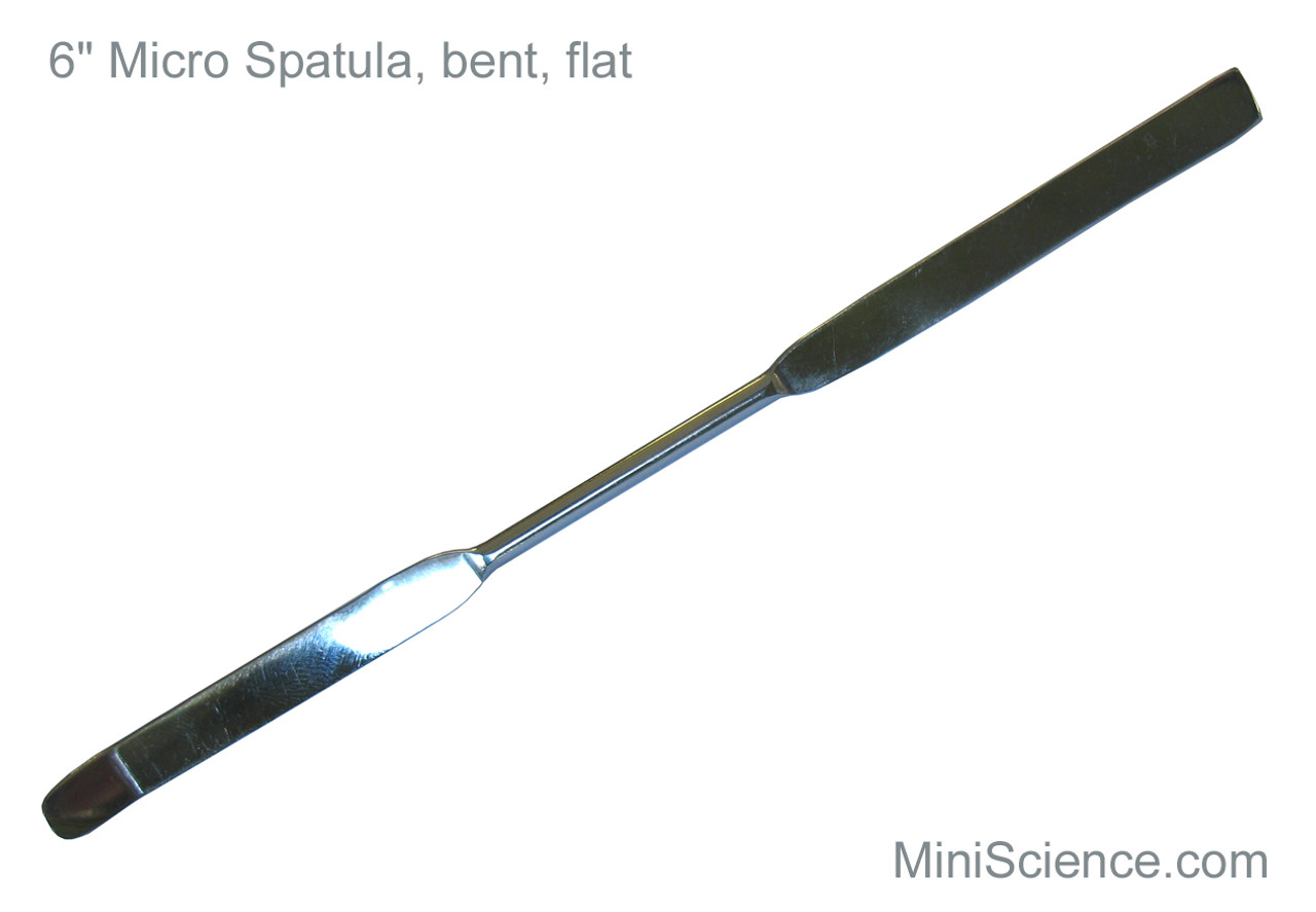 """Micro Spatula, 6"""", with Flat and Bent ends"""