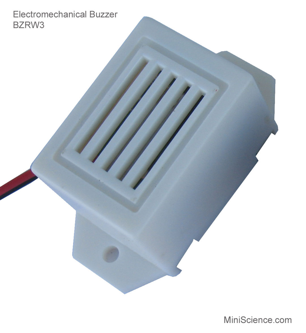 Low voltage buzzer requires 1.5 volt up to 3 volts to operate