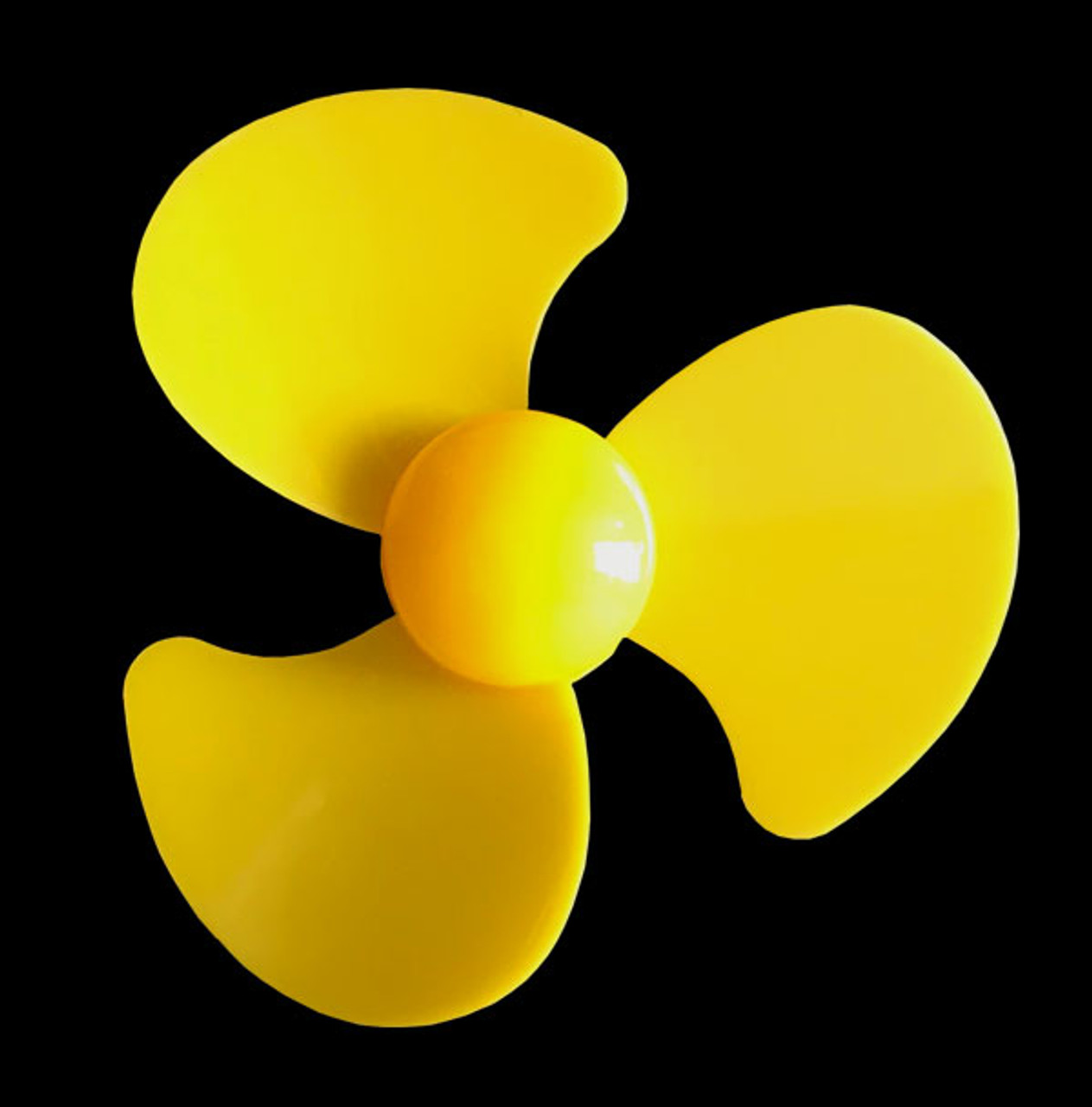 Fan blade propeller with 3 wide blade and outer diameter of 90 mm