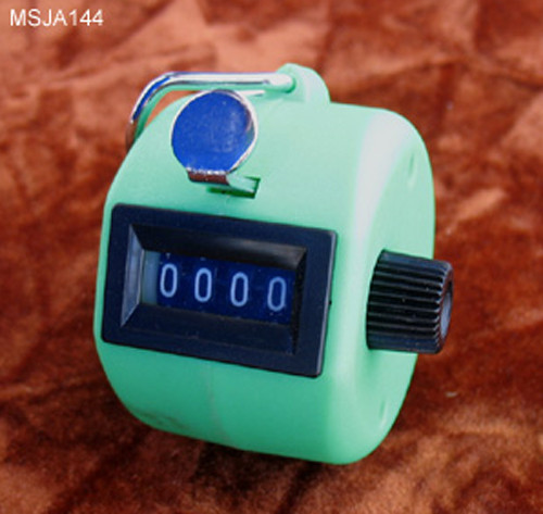 Hand Counter, Fluorescent Green, Durable, shock resistance
