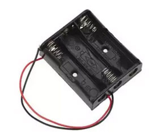 Plastic battery holder for 3 AA size batteries