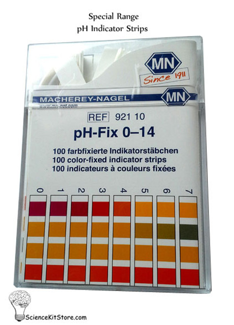 pH Indicator Strip, **Select Special Range**