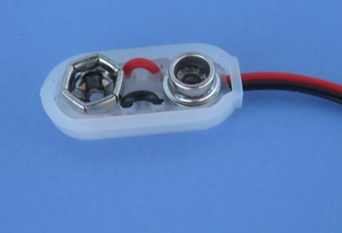 Battery Connectors for 9-Volt Batteries, set of 10