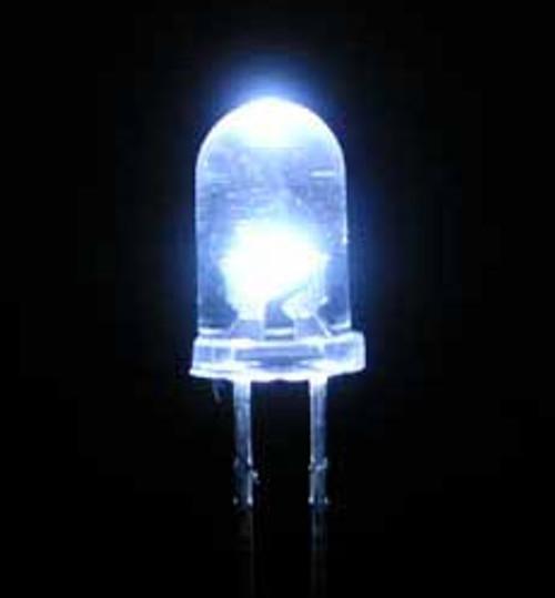Super Bright White LED, 8mm