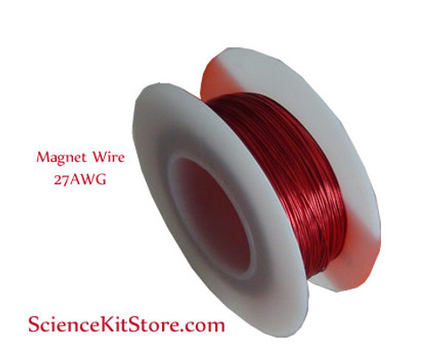 Enameled copper wire (Magnet Wire), 27 AWG, 200 Feet