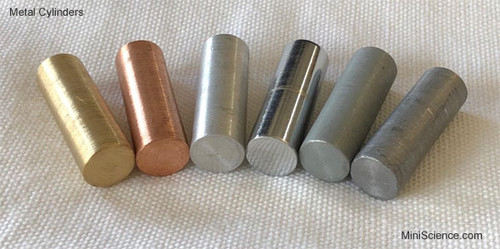 Metal Cylinder Set (6 Pieces) 10 x 30 mm