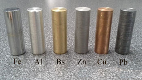 Metal Cylinder Set (6 Pieces) 10 x 30 mm