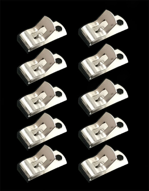 Fahnestock Clips, Spring clips, Plated Steel (Pack of 10)