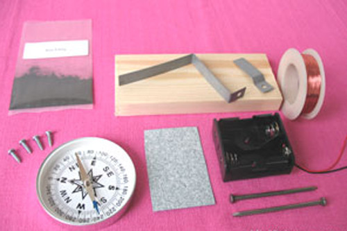 Materials of Electromagnet Science Set.