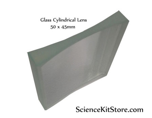 Glass Cylindrical Lens, Bi-Concave 50x45mm FL 72mm