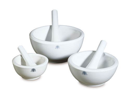 Mortar and Pestle, white porcelain