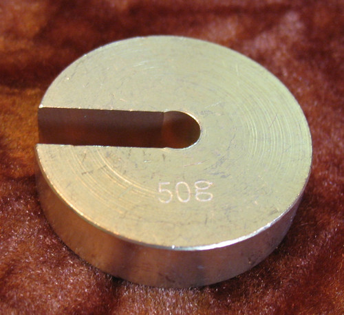 Slotted mass, Slotted Weight, 50 grams, for Aluminium hanger