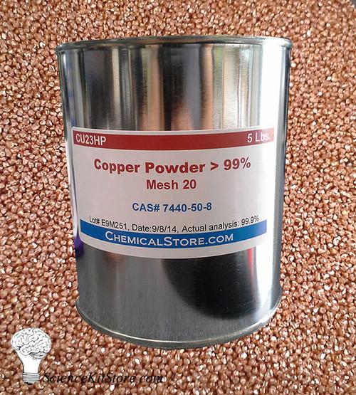 Copper Granules, 20 Mesh