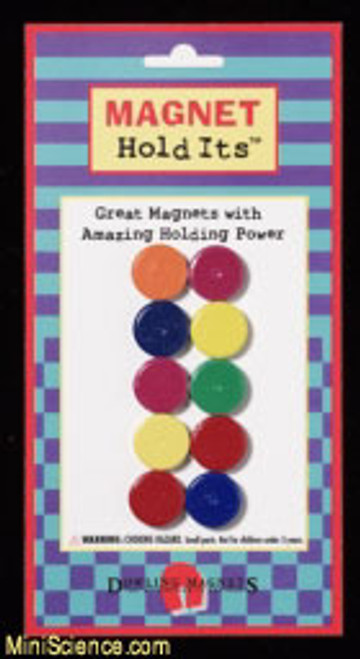 Ceramic Disc Magnets (set of 10) Multi-Colored