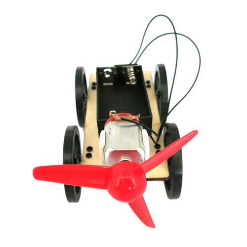 Air propelled car model, completed.