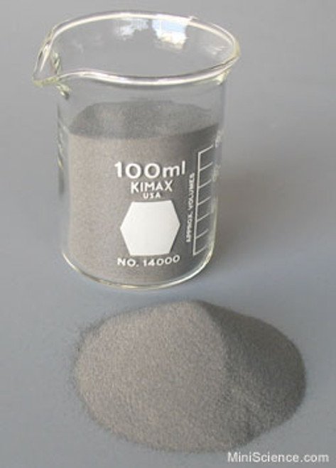 High purity, hydrogen reduced, highly reactive, high surface area, fine iron powder for chemical reactions, magnetism experiments and making magnetic paints. All particles are 150 micron or smaller.