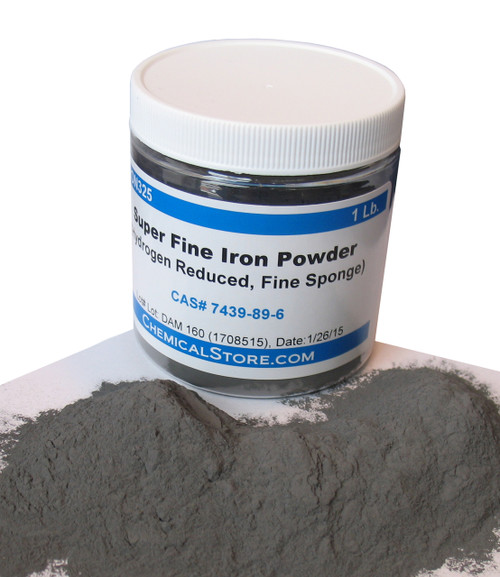 Super fine hydrogen reduced iron powder for pigment, sintered products, Powder metallurgy, chemical reactions, Soft magnetic composite compounds, magnetism experiments, fingerprinting powder and making magnetic paints.