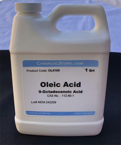 Oleic Acid, often used for making special soaps and as soldering flux for soldering lead came and lead parts. Also used as emulsifier.