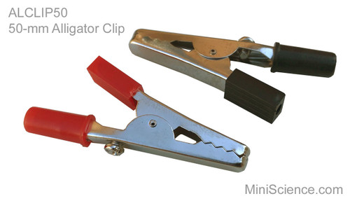 Alligator Clips, 50 millimeters (2 inches) long