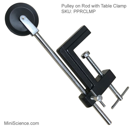 Pulley on Rod with Table Clamp